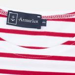 Мужская футболка Armor-Lux Mariniere Theviec White/Dark Red фото- 2