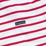 Мужская футболка Armor-Lux Mariniere Theviec White/Dark Red фото- 3