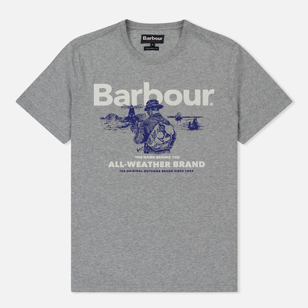 Мужская футболка Barbour All-Weather Grey Marl