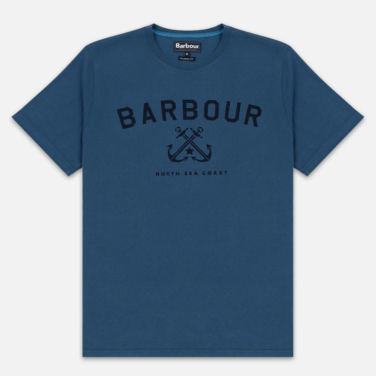 Мужская футболка Barbour Asher Deep Sea