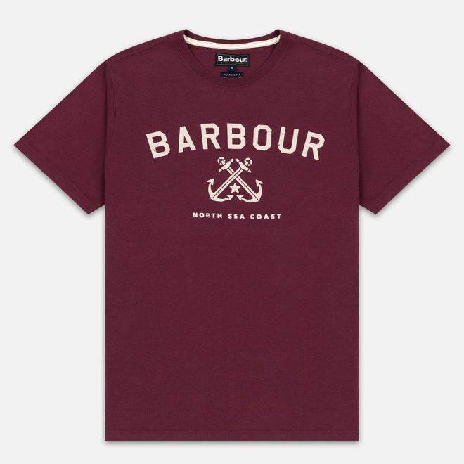 Мужская футболка Barbour Asher Merlot
