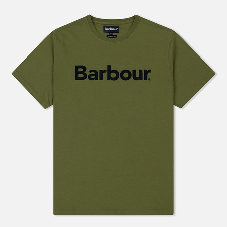 Мужская футболка Barbour Big Printed Logo Burnt Olive