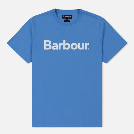 Мужская футболка Barbour Big Printed Logo Delft Blue