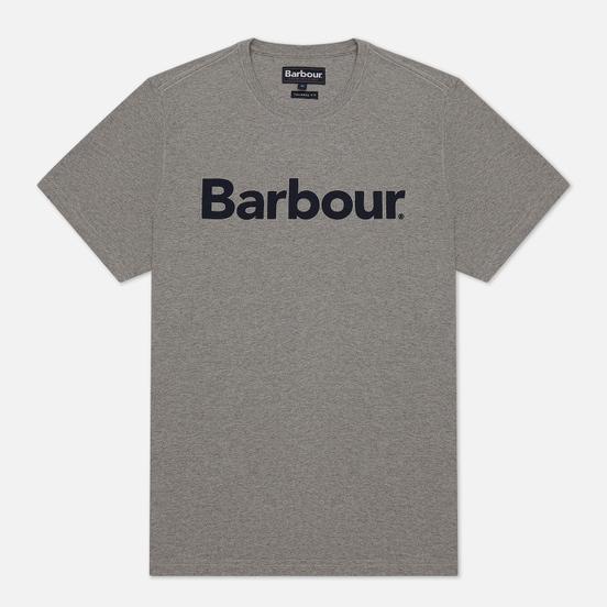 Мужская футболка Barbour Big Printed Logo Grey Marl