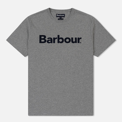 Мужская футболка Barbour Big Printed Logo Grey Marl