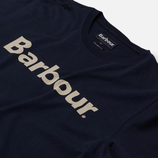 Мужская футболка Barbour Big Printed Logo New Navy