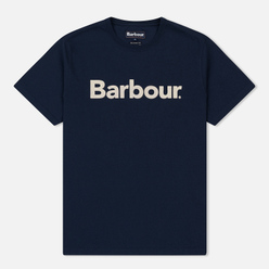 Мужская футболка Barbour Big Printed Logo New Navy
