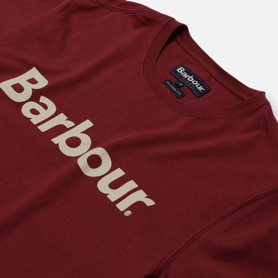 Мужская футболка Barbour Big Printed Logo Ruby
