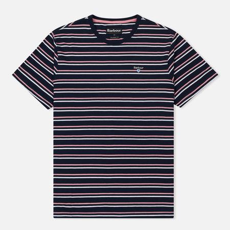 Мужская футболка Barbour Duxford Stripe Dress Blue