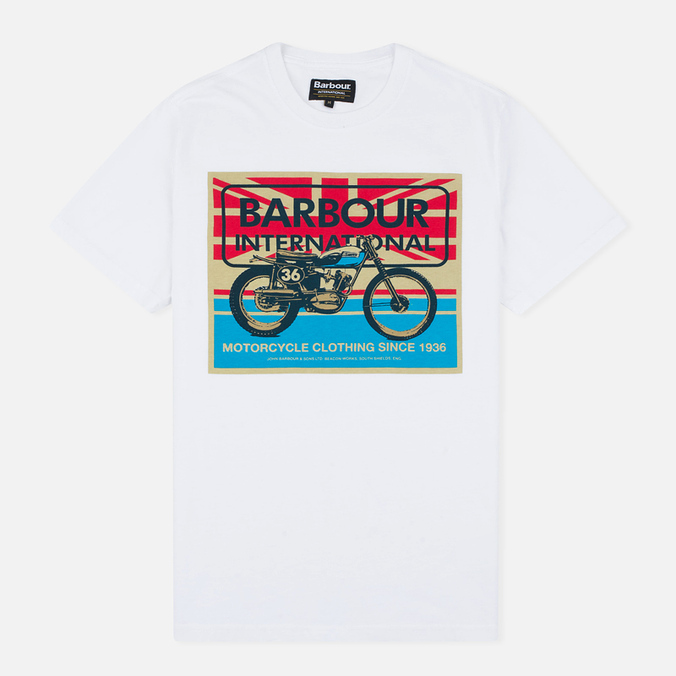 Мужская футболка Barbour International 1936 White