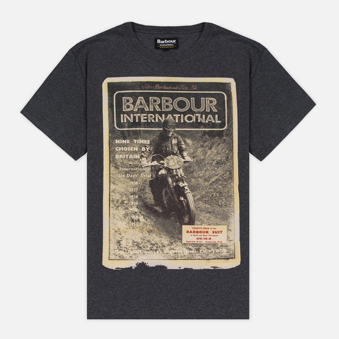 Мужская футболка Barbour International Adventure Charcoal