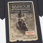 Мужская футболка Barbour International Adventure Charcoal фото- 3