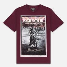 Мужская футболка Barbour International Archive Biker Merlot фото- 0