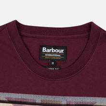 Мужская футболка Barbour International Archive Biker Merlot фото- 1