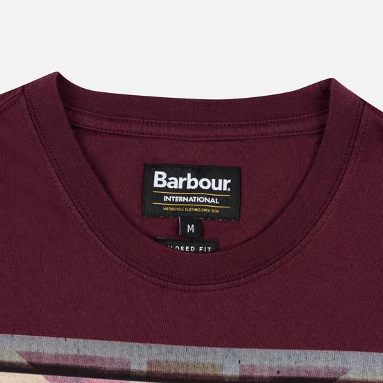 Мужская футболка Barbour International Archive Biker Merlot