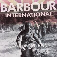 Мужская футболка Barbour International Archive Biker Merlot фото- 2