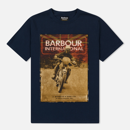 Мужская футболка Barbour International Archive Navy