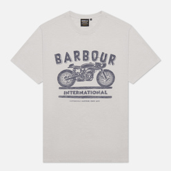 Мужская футболка Barbour International Device Light Grey