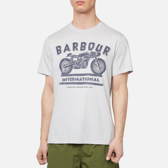Мужская футболка Barbour International Device Light Grey