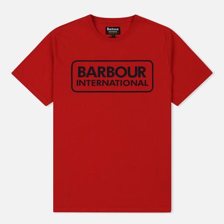 Мужская футболка Barbour International Essential Large Logo Vibrant Red