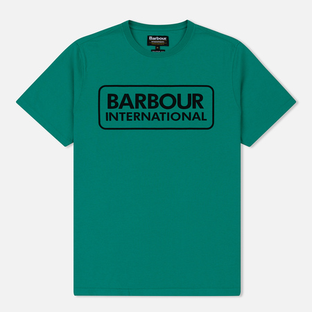 Мужская футболка Barbour International Essential Large Logo Zest Green