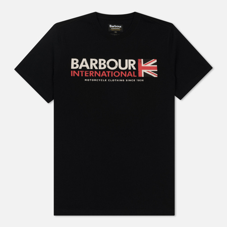 Мужская футболка Barbour International Flag Black
