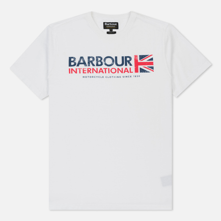 Мужская футболка Barbour International Flag White