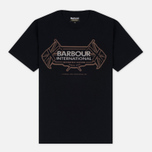 Мужская футболка Barbour International Flags Black фото- 0