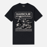 Barbour International Hill Men's T-shirt Climb Charcoal photo- 0