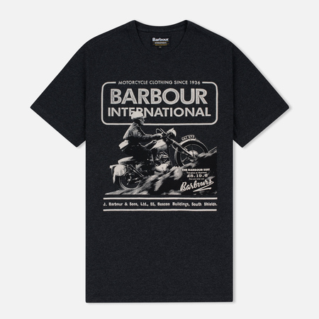 Мужская футболка Barbour International Hill Climb Charcoal