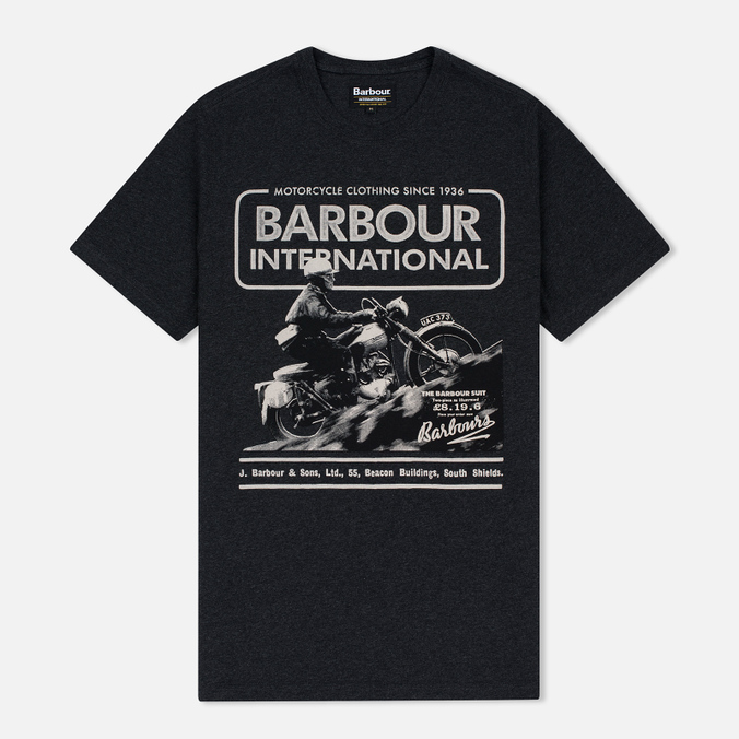 Barbour International Hill Men's T-shirt Climb Charcoal