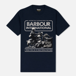 Мужская футболка Barbour International Hill Climb Navy фото- 0