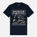 Мужская футболка Barbour International Hill Climb Navy фото- 0
