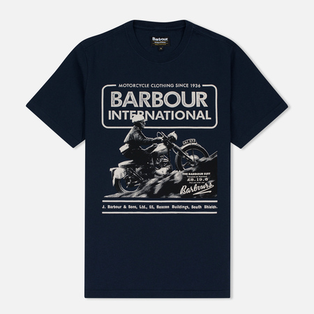 Мужская футболка Barbour International Hill Climb Navy