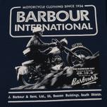 Barbour International Hill Men's T-shirt Climb Navy photo- 2