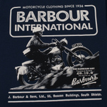 Мужская футболка Barbour International Hill Climb Navy фото- 2