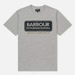 Мужская футболка Barbour International Logo Grey Marl фото- 0