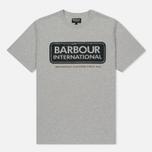 Мужская футболка Barbour International Logo Grey Marl фото- 0