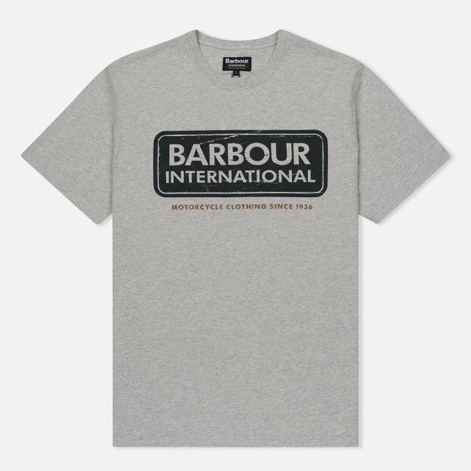 Мужская футболка Barbour International Logo Grey Marl