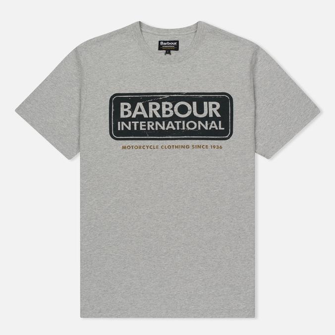 Мужская футболка Barbour International Logo Grey Marl