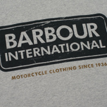 Мужская футболка Barbour International Logo Grey Marl фото- 2