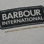 Мужская футболка Barbour International Logo Grey Marl фото- 2