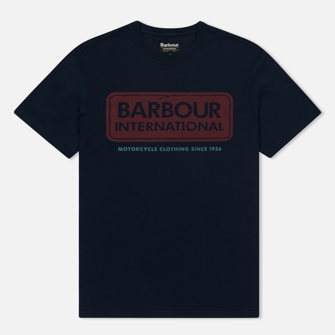 Мужская футболка Barbour International Logo Navy