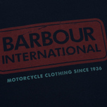 Мужская футболка Barbour International Logo Navy фото- 2