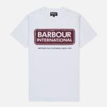 Мужская футболка Barbour International Logo White фото- 0