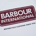 Мужская футболка Barbour International Logo White фото- 2