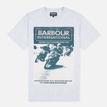 Мужская футболка Barbour International Racing Grey Marl фото- 0