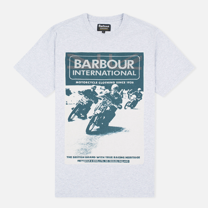 Мужская футболка Barbour International Racing Grey Marl