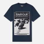 Мужская футболка Barbour International Racing Navy фото- 0
