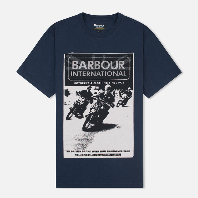 Мужская футболка Barbour International Racing Navy